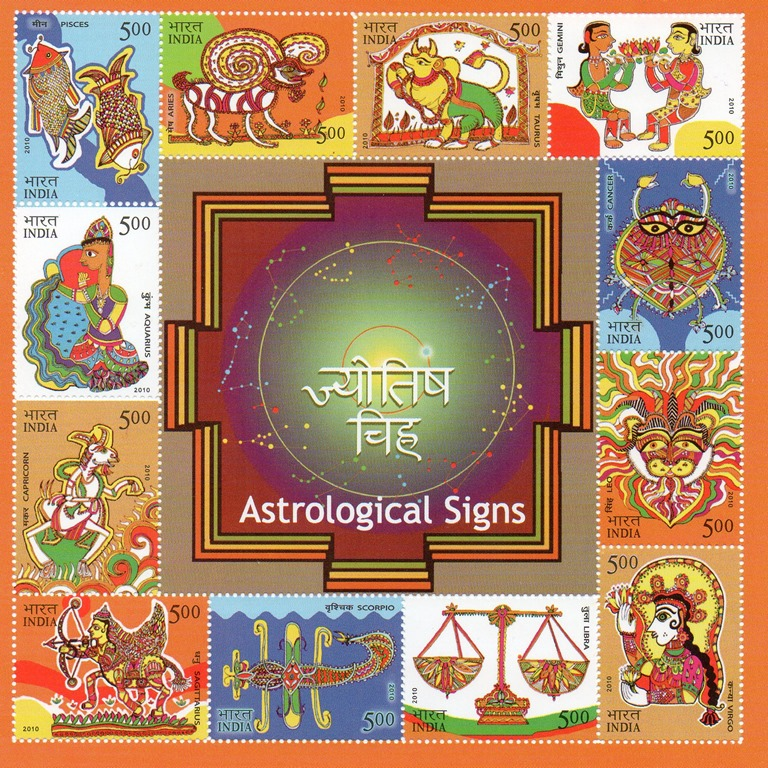 Indian Astrology Logo Astrology Indian Stamps